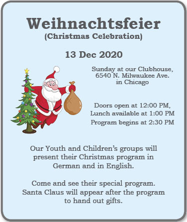 Christmas Day Dinner Chicago Area 2020 Amer Aid Soc Christmas Program and Dinner – German Day Events