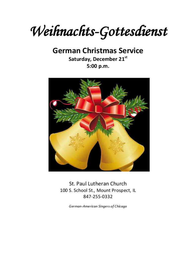 German Christmas Service @ St. Paul Lutheran Church | Mount Prospect | Illinois | United States