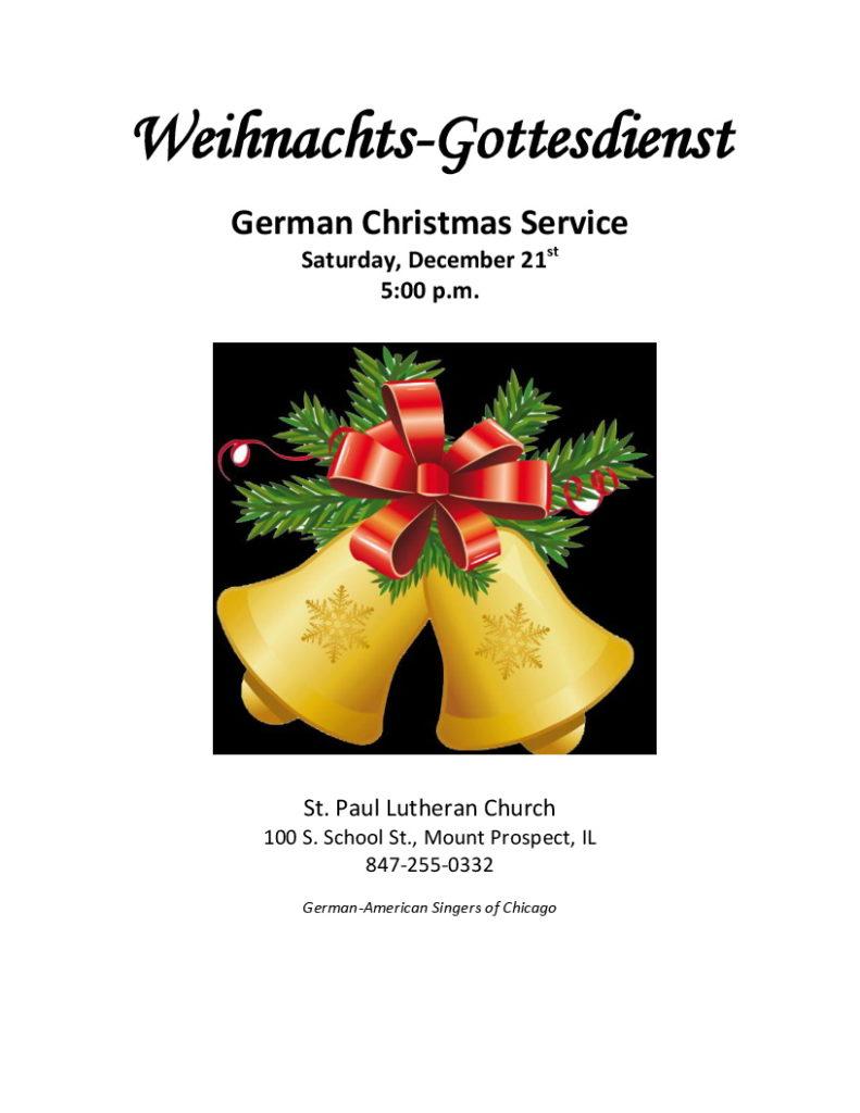 German Christmas Service @ St. Paul Lutheran Church | Mount Prospect | Illinois | United States