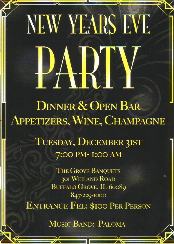 New Years Eve Party @ Grove Banquets | Buffalo Grove | Illinois | United States